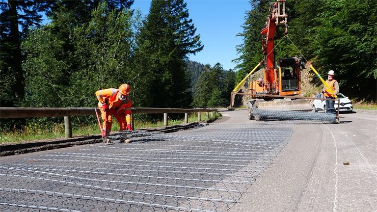 La RD 417 du Col de la Schlucht: Des travaux techniques et innovants
