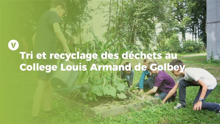 Trophées de la transition écologique: Tri et recyclage des déchets au Collège Louis Armand de Golbey