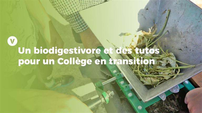 Trophées de la transition écologique: Un biodigestivore et des Tutos pour un Collège en transition