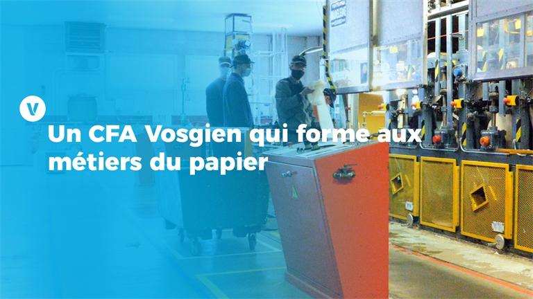 Un CFA Vosgien qui forme aux métiers du papier