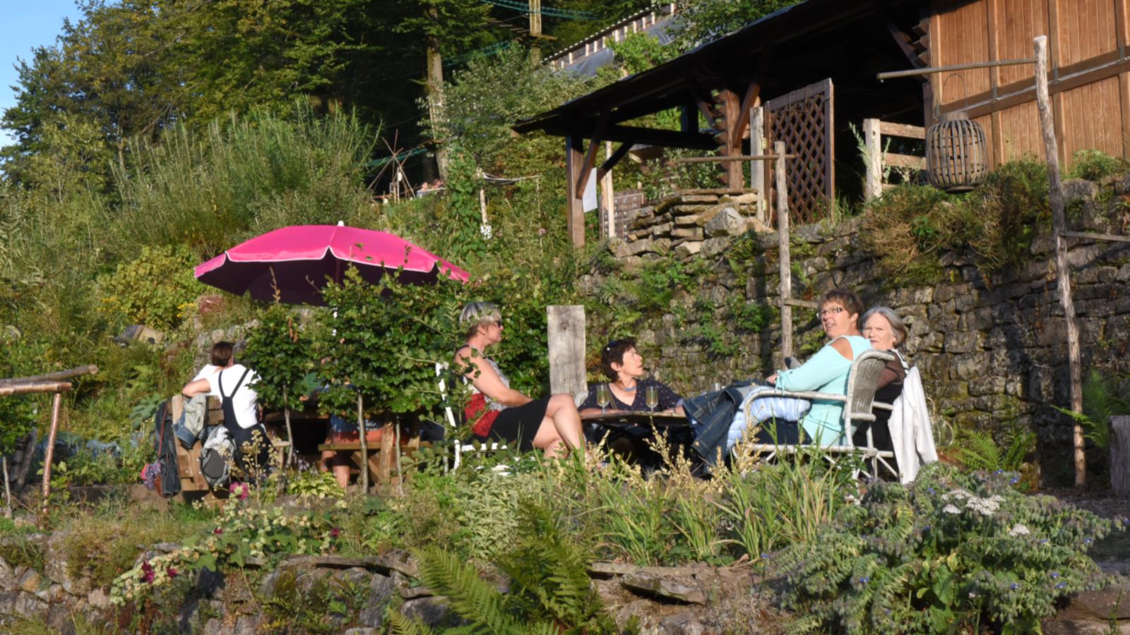 Les jardins en terrasse de Plombières-les-Bains